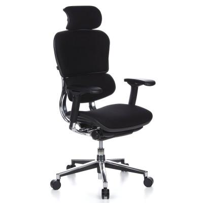 Ofisinė kėdė Ergohuman Luxury Black medžiaginė