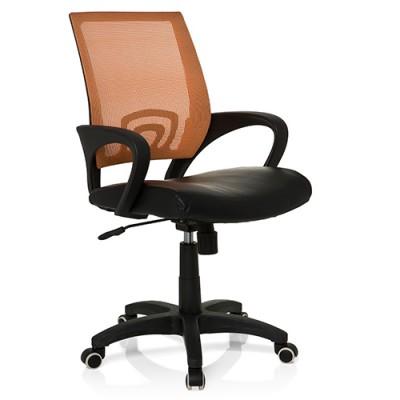 Ofisinė kėdė Visto Net juoda / oranžinė