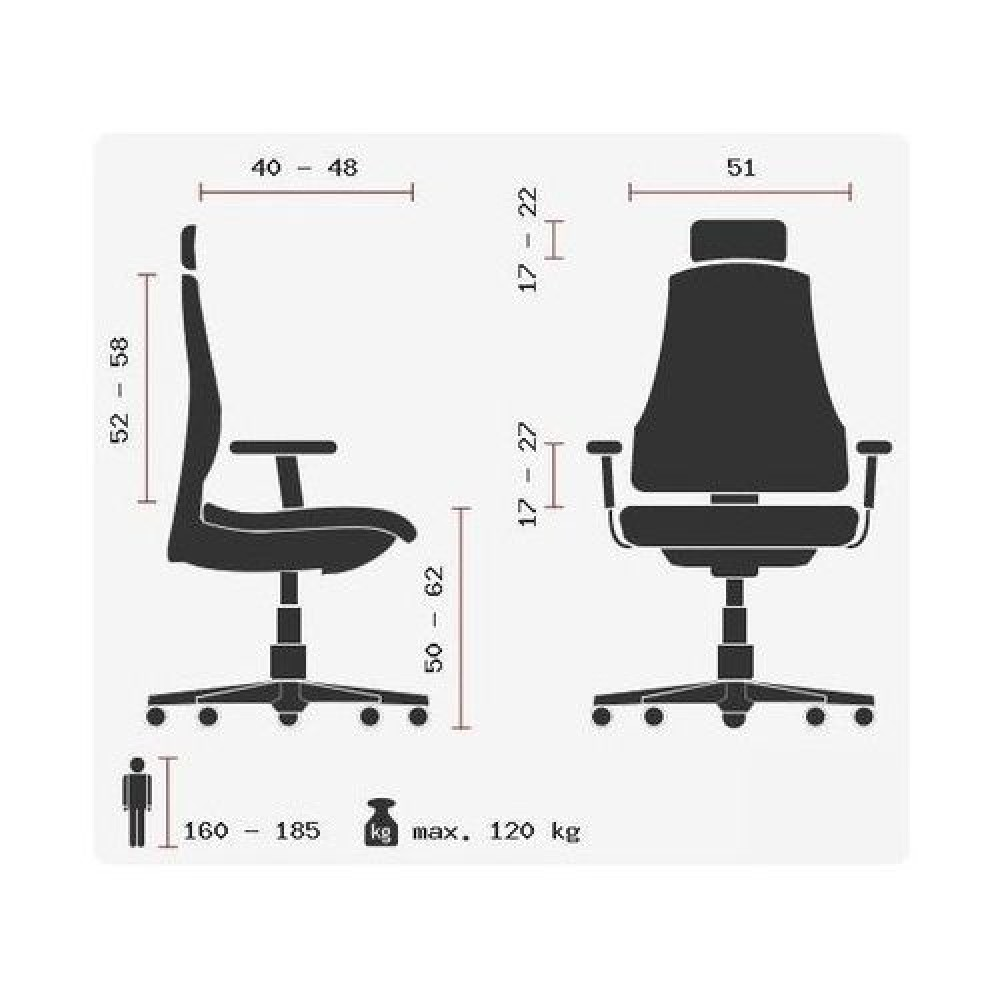 Ofisinė kėdė Ergo Human