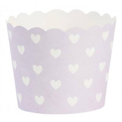 Keksiukų formelės Hearts Purple / White