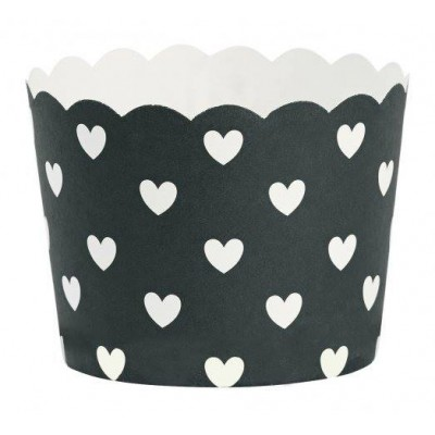 Keksiukų formelės Hearts Black / White