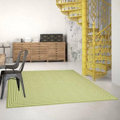 Kilimas Braid Green 200 x 285 cm