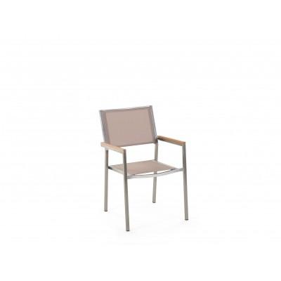 Dviejų lauko kėdžių komplektas Grosseto Beige