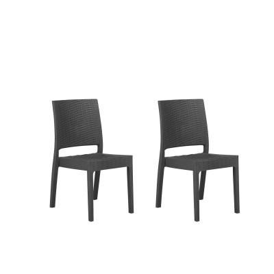 Dviejų lauko kėdžių komplektas Fossano