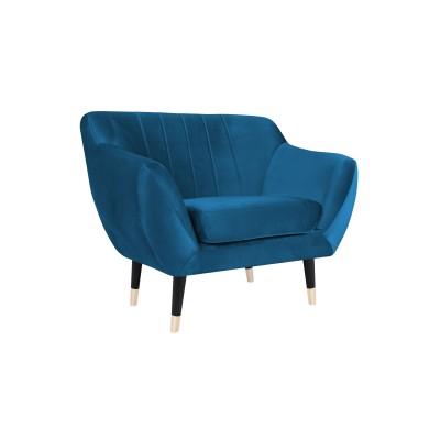 Fotelis Benito Blue Velvet