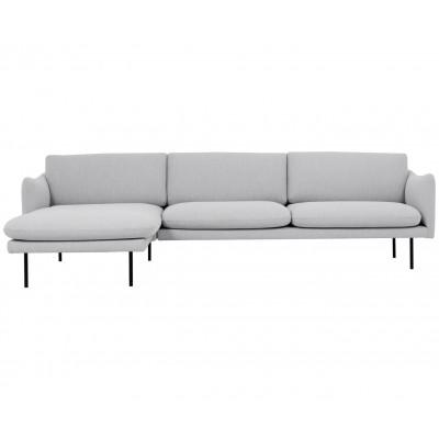 Kampinė sofa Moby Grey