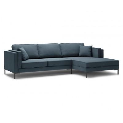 Dešininė kampinė sofa Luis Blue medžiaginė