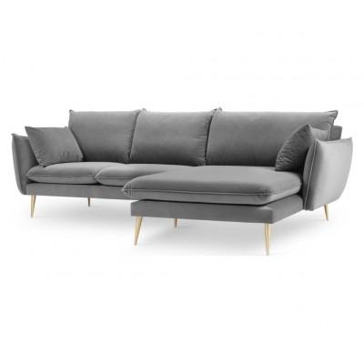 Dešininė kampinė sofa Elio Light Grey Velvet