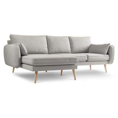 Kairinė kampinė sofa Lento Grey medžiaginė