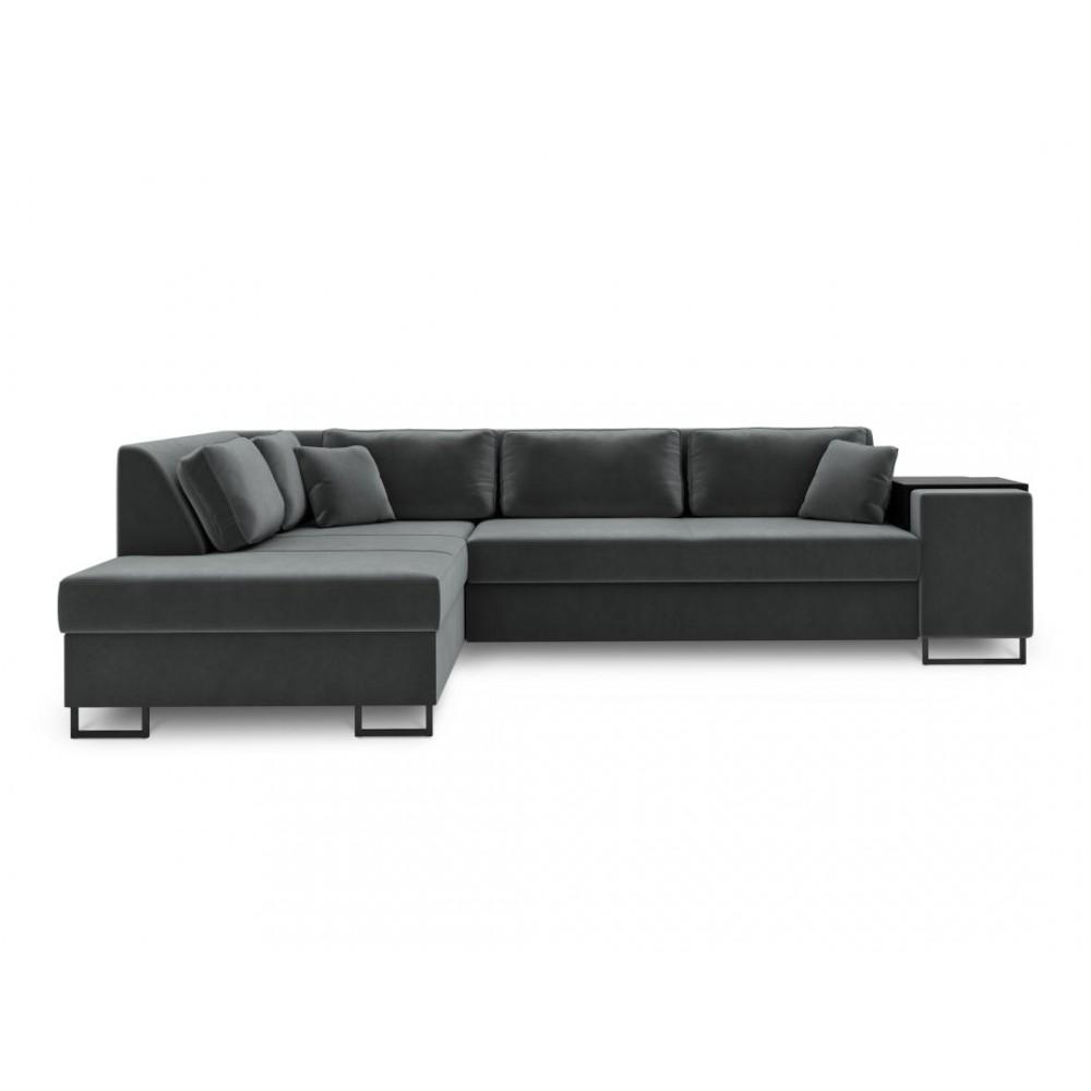 Kairinė kampinė sofa - lova York XL Dark Grey