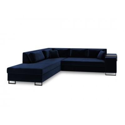 Kairinė kampinė sofa - lova York XL Dark Blue