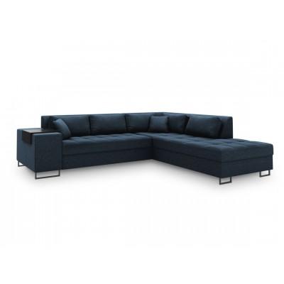 Dešininė kampinė sofa - lova Madison XL Blue, audinys
