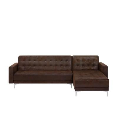 Dešininė kampinė sofa - lova Aberdeen su pakojuku