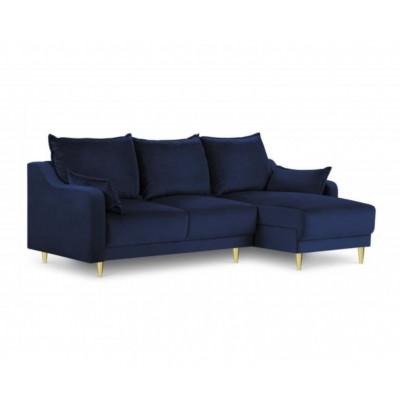Kampinė sofa - lova Pansy Royal Blue Velvet