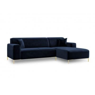 Dešininė kampinė sofa Modena Royal Blue Velvet