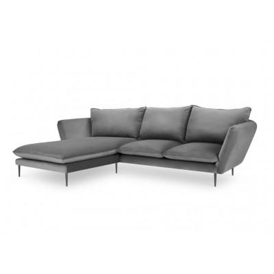 Kairinė kampinė sofa Modena Royal Blue Velvet