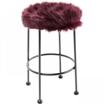 Taburetė Ontario Fur Dark Red
