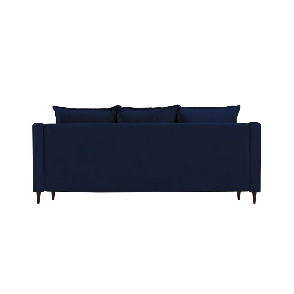Trivietė sofa - lova Freesia Velvet Navy Blue