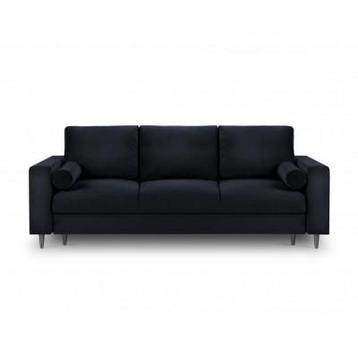 Trivietė sofa - lova Camellia Velvet Dark Blue