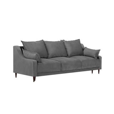 Trivietė sofa - lova Freesia Velvet Grey