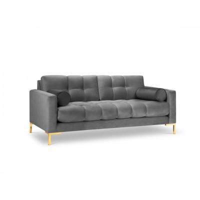 Dvivietė sofa Bali Dark Grey Velvet