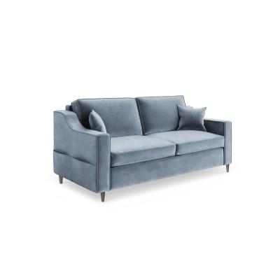 Dvivietė sofa Amaryllis Blue Grey Velvet