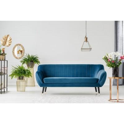 Trivietė sofa Benito Blue Velvet