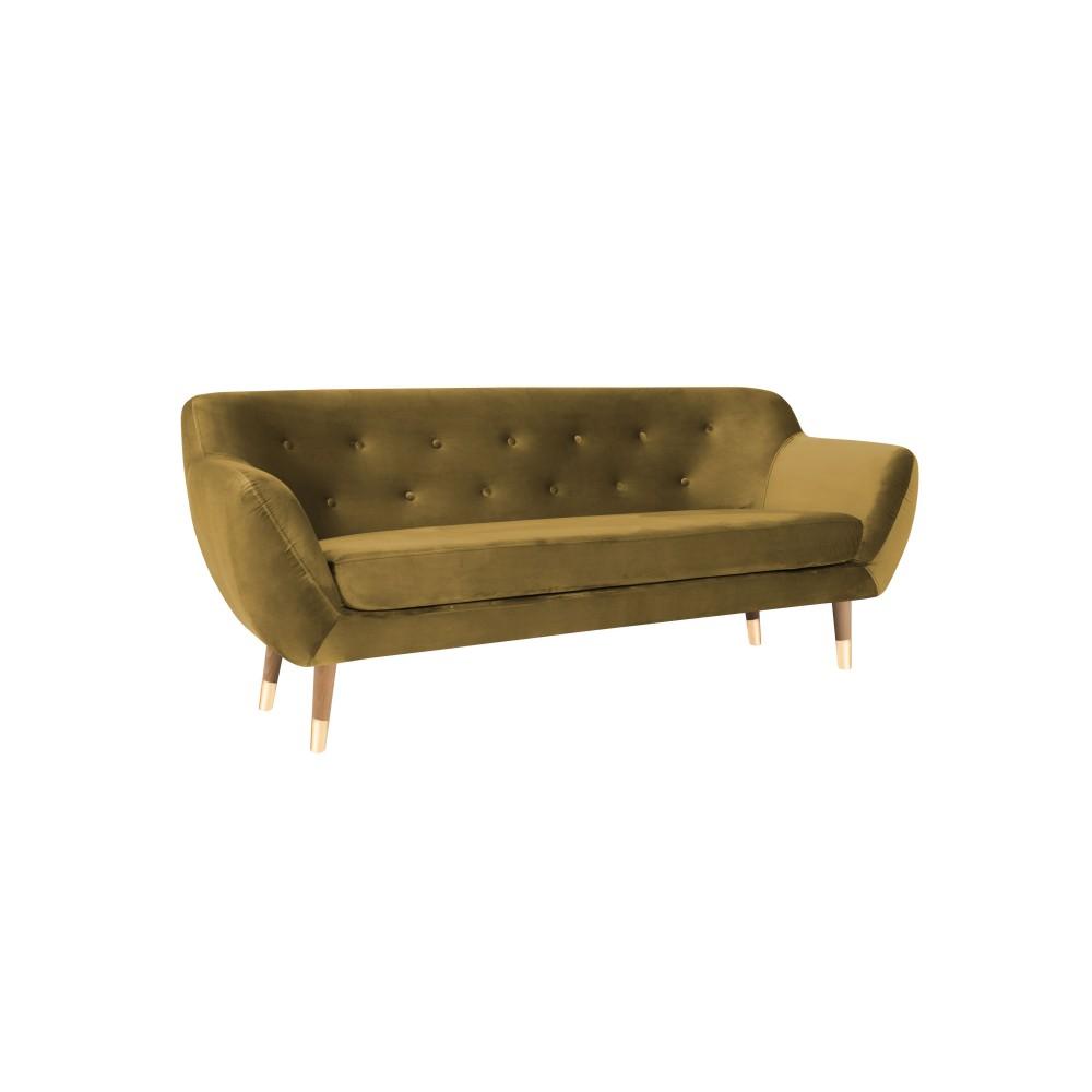Trivietė sofa Amelie Gold Velvet