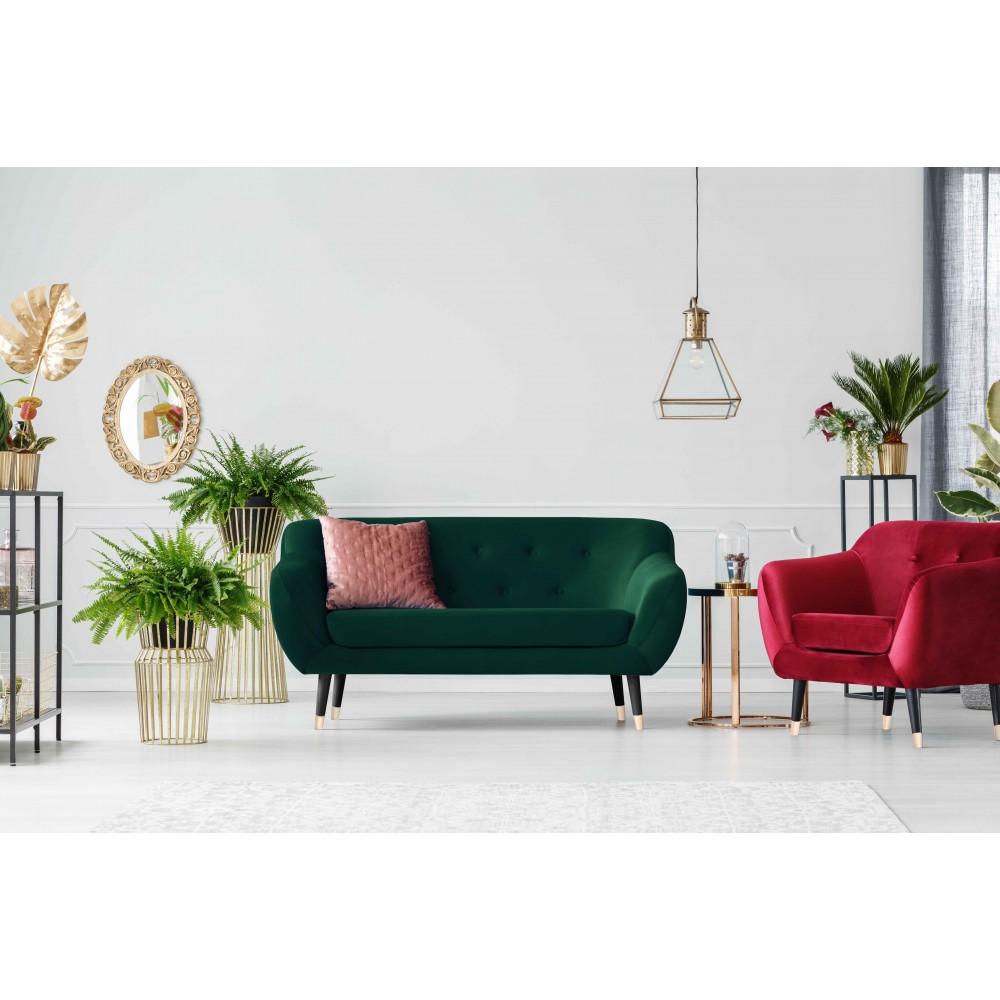 Dvivietė sofa Amelie Velvet Bottle Green