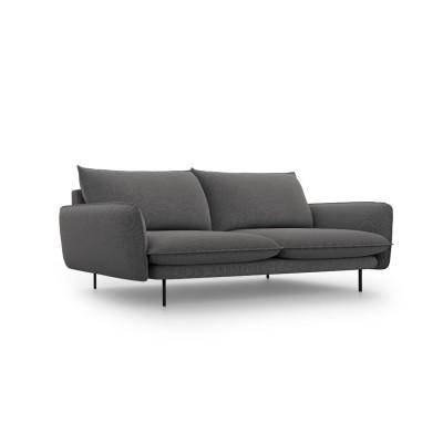 Keturvietė sofa Vienna Dark Grey medžiaginė
