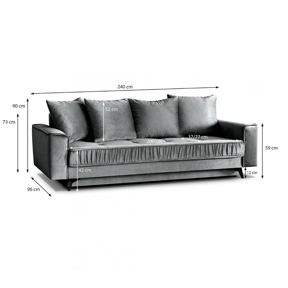 Sofa - lova Paris Blue