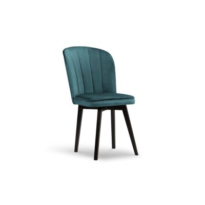 Dviejų kėdžių - krėsliukų komplektas Perugia Petrol Velvet