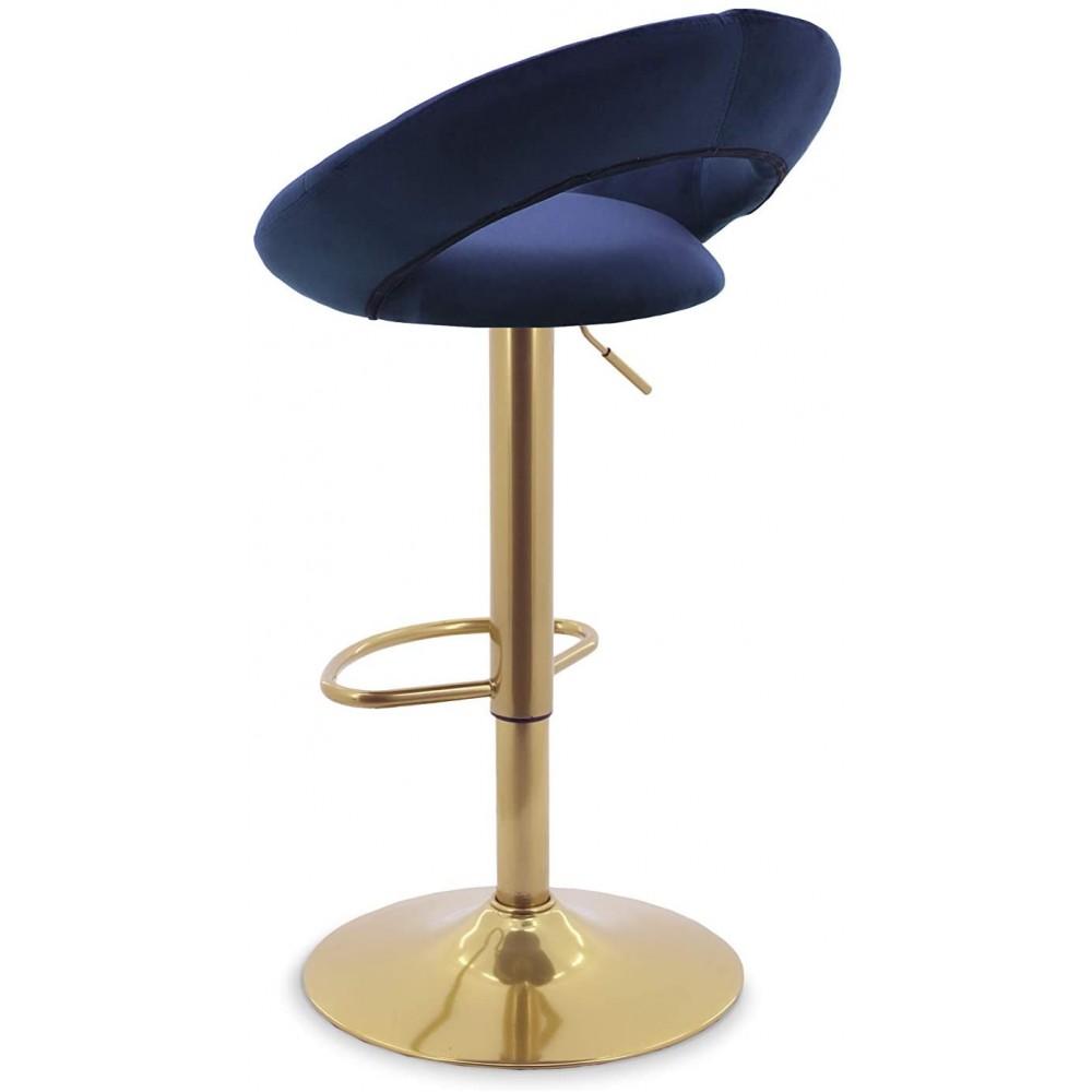 Baro kėdžių komplektas Ashley Velvet Royal Blue